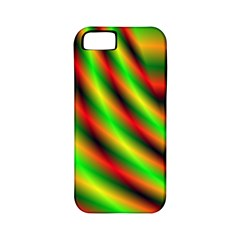 Neon Color Fractal Lines Apple Iphone 5 Classic Hardshell Case (pc+silicone)
