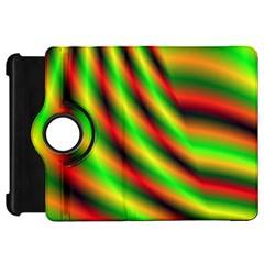 Neon Color Fractal Lines Kindle Fire HD 7
