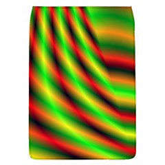 Neon Color Fractal Lines Flap Covers (L)