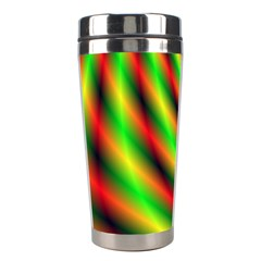 Neon Color Fractal Lines Stainless Steel Travel Tumblers