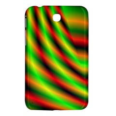 Neon Color Fractal Lines Samsung Galaxy Tab 3 (7 ) P3200 Hardshell Case