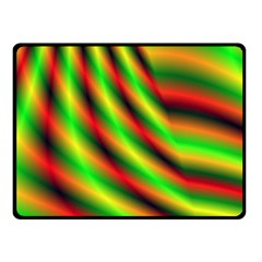 Neon Color Fractal Lines Double Sided Fleece Blanket (small)