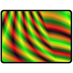 Neon Color Fractal Lines Double Sided Fleece Blanket (large)