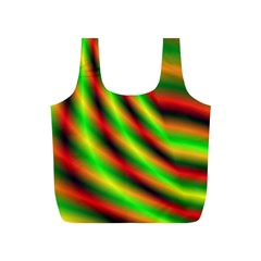 Neon Color Fractal Lines Full Print Recycle Bags (S)