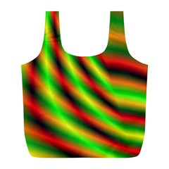 Neon Color Fractal Lines Full Print Recycle Bags (L)