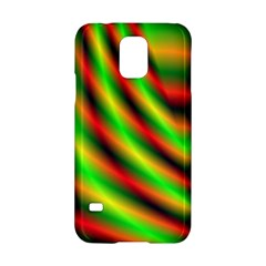 Neon Color Fractal Lines Samsung Galaxy S5 Hardshell Case