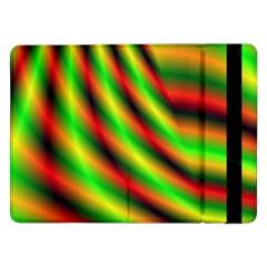 Neon Color Fractal Lines Samsung Galaxy Tab Pro 12.2  Flip Case