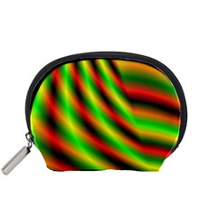 Neon Color Fractal Lines Accessory Pouches (Small)