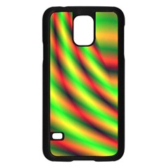 Neon Color Fractal Lines Samsung Galaxy S5 Case (Black)