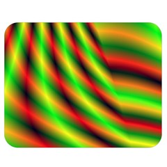 Neon Color Fractal Lines Double Sided Flano Blanket (Medium)