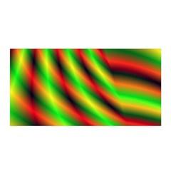 Neon Color Fractal Lines Satin Wrap