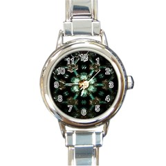 Kaleidoscope With Bits Of Colorful Translucent Glass In A Cylinder Filled With Mirrors Round Italian Charm Watch