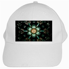 Kaleidoscope With Bits Of Colorful Translucent Glass In A Cylinder Filled With Mirrors White Cap