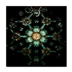 Kaleidoscope With Bits Of Colorful Translucent Glass In A Cylinder Filled With Mirrors Tile Coasters
