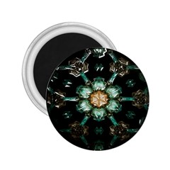 Kaleidoscope With Bits Of Colorful Translucent Glass In A Cylinder Filled With Mirrors 2 25  Magnets