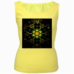 Kaleidoscope With Bits Of Colorful Translucent Glass In A Cylinder Filled With Mirrors Women s Yellow Tank Top