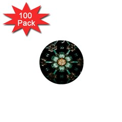 Kaleidoscope With Bits Of Colorful Translucent Glass In A Cylinder Filled With Mirrors 1  Mini Buttons (100 Pack)