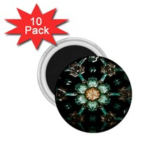 Kaleidoscope With Bits Of Colorful Translucent Glass In A Cylinder Filled With Mirrors 1.75  Magnets (10 pack)