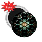 Kaleidoscope With Bits Of Colorful Translucent Glass In A Cylinder Filled With Mirrors 2.25  Magnets (10 pack)  Front