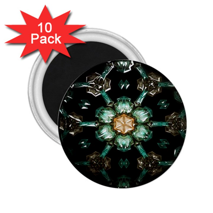 Kaleidoscope With Bits Of Colorful Translucent Glass In A Cylinder Filled With Mirrors 2.25  Magnets (10 pack)