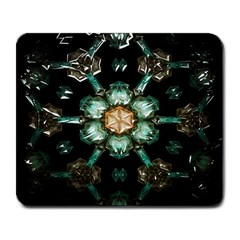 Kaleidoscope With Bits Of Colorful Translucent Glass In A Cylinder Filled With Mirrors Large Mousepads