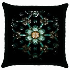 Kaleidoscope With Bits Of Colorful Translucent Glass In A Cylinder Filled With Mirrors Throw Pillow Case (Black)