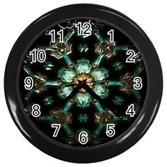 Kaleidoscope With Bits Of Colorful Translucent Glass In A Cylinder Filled With Mirrors Wall Clocks (black)