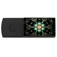 Kaleidoscope With Bits Of Colorful Translucent Glass In A Cylinder Filled With Mirrors USB Flash Drive Rectangular (1 GB)