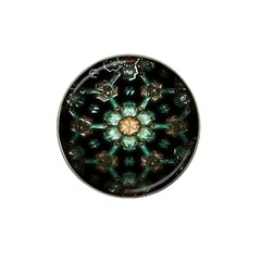 Kaleidoscope With Bits Of Colorful Translucent Glass In A Cylinder Filled With Mirrors Hat Clip Ball Marker (4 Pack)