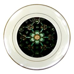 Kaleidoscope With Bits Of Colorful Translucent Glass In A Cylinder Filled With Mirrors Porcelain Plates