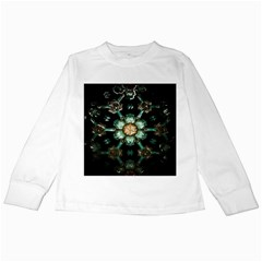 Kaleidoscope With Bits Of Colorful Translucent Glass In A Cylinder Filled With Mirrors Kids Long Sleeve T-Shirts