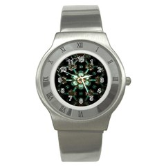 Kaleidoscope With Bits Of Colorful Translucent Glass In A Cylinder Filled With Mirrors Stainless Steel Watch