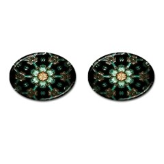 Kaleidoscope With Bits Of Colorful Translucent Glass In A Cylinder Filled With Mirrors Cufflinks (Oval)