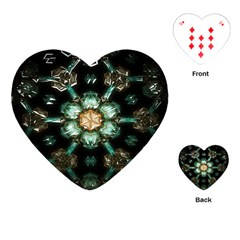 Kaleidoscope With Bits Of Colorful Translucent Glass In A Cylinder Filled With Mirrors Playing Cards (Heart)