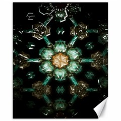 Kaleidoscope With Bits Of Colorful Translucent Glass In A Cylinder Filled With Mirrors Canvas 16  X 20
