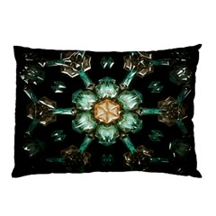 Kaleidoscope With Bits Of Colorful Translucent Glass In A Cylinder Filled With Mirrors Pillow Case