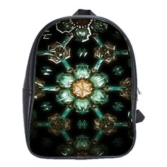 Kaleidoscope With Bits Of Colorful Translucent Glass In A Cylinder Filled With Mirrors School Bags(large)