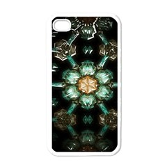 Kaleidoscope With Bits Of Colorful Translucent Glass In A Cylinder Filled With Mirrors Apple iPhone 4 Case (White)