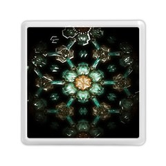 Kaleidoscope With Bits Of Colorful Translucent Glass In A Cylinder Filled With Mirrors Memory Card Reader (square)