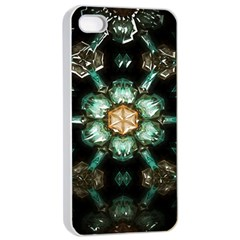 Kaleidoscope With Bits Of Colorful Translucent Glass In A Cylinder Filled With Mirrors Apple Iphone 4/4s Seamless Case (white)