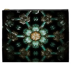 Kaleidoscope With Bits Of Colorful Translucent Glass In A Cylinder Filled With Mirrors Cosmetic Bag (XXXL)