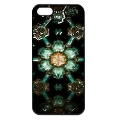 Kaleidoscope With Bits Of Colorful Translucent Glass In A Cylinder Filled With Mirrors Apple iPhone 5 Seamless Case (Black)