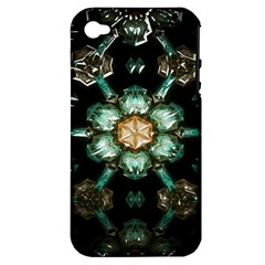 Kaleidoscope With Bits Of Colorful Translucent Glass In A Cylinder Filled With Mirrors Apple iPhone 4/4S Hardshell Case (PC+Silicone)