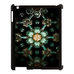 Kaleidoscope With Bits Of Colorful Translucent Glass In A Cylinder Filled With Mirrors Apple Ipad 3/4 Case (black)