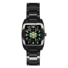Kaleidoscope With Bits Of Colorful Translucent Glass In A Cylinder Filled With Mirrors Stainless Steel Barrel Watch