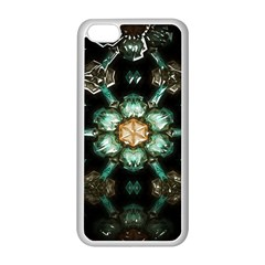 Kaleidoscope With Bits Of Colorful Translucent Glass In A Cylinder Filled With Mirrors Apple iPhone 5C Seamless Case (White)