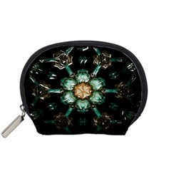Kaleidoscope With Bits Of Colorful Translucent Glass In A Cylinder Filled With Mirrors Accessory Pouches (small)