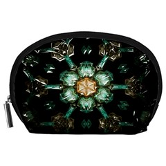 Kaleidoscope With Bits Of Colorful Translucent Glass In A Cylinder Filled With Mirrors Accessory Pouches (large)