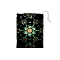 Kaleidoscope With Bits Of Colorful Translucent Glass In A Cylinder Filled With Mirrors Drawstring Pouches (Small)