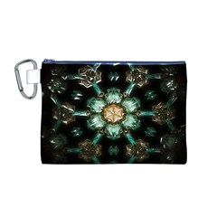 Kaleidoscope With Bits Of Colorful Translucent Glass In A Cylinder Filled With Mirrors Canvas Cosmetic Bag (m)